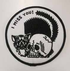 Image of I miss you 3 inch patch