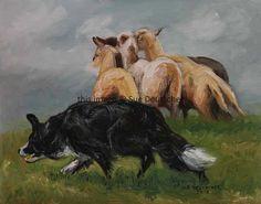 Border Collie Herding Sheep Working  8x10 print by Sue Deutscher, $9.99 http://suedeutscher.com