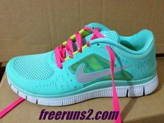Nike Free Run 3 Womens Tropical Twist Reflect Silver Pure Platinum Hot Pink Lace Shoes