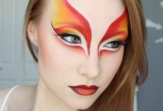 Phoenix colors and beautiful eyes makeup