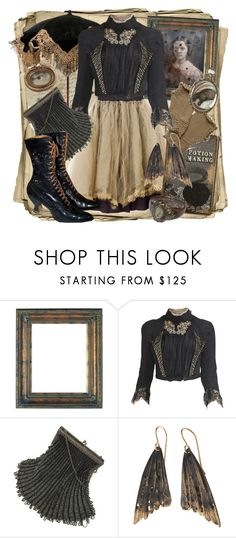 """""""Beauty In Decay"""" by larkspurlane ❤ liked on Polyvore featuring Tricot Comme des Garçons, AURUM by Guðbjörg, vintage, goth and dollykei"""