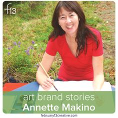 "Today we introduce a new series on the blog, ""Art Brand Stories""—interviews with artists who are building thriving businesses by cultivating their unique art brands. First up, artist Annette Makino who marries her writing and images in a distinctive style inspired by the Japanese art form called ""haiga."" Enjoy!"