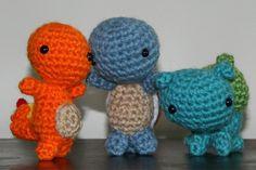 Crochet Pokemon Starter Set!