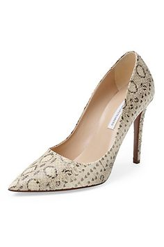 Bethany 100MM Snake Pump in Natural by DVF