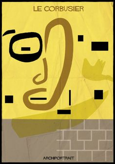 archiportrait Le Corbusier by Federico Babina Zaha Hadid, Beautiful Architecture, Modern Architecture, Architect Drawing, Modernisme, Famous Architects, Famous Words, Antoni Gaudi, Graphic Illustration