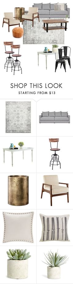 """Living Room"" by korrybrown on Polyvore featuring interior, interiors, interior design, home, home decor, interior decorating, Gus* Modern, Threshold, HiEnd Accents and Allstate Floral"
