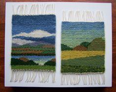 Nancy Kramer, work done in Weaving Tapestry on Little Looms online class with Rebecca Mezoff. www.tapestryweaving.com
