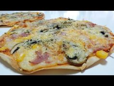 PIZZA (fácil y rápida) con tortillas mexicanas - YouTube