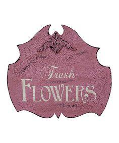 'Fresh Flowers' Garden Sign