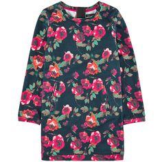 Light cotton fleece Straight fit Crew neck Long sleeves Slant pockets Zipper in the back Flower print - $ 72
