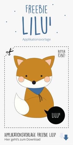 Applique Patterns, Applique Designs, Applique Ideas, Sewing For Kids, Free Sewing, Animal Bag, Fox Animal, Freehand Machine Embroidery, Pillow Embroidery