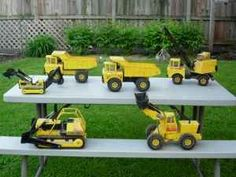 Tonka Toys...my sons played with Tonka trucks, best toys for boys!