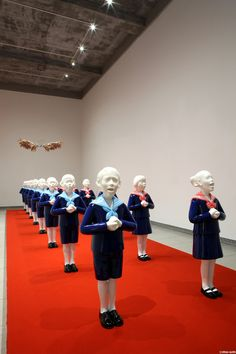 """Korean artist Choi Xoo Ang - """"Choi Xoo Ang is an emerging mixed media artist based out of Seoul, South Korea who creates figurative sculptures out of clay and resin that examines human rights, society's pathological state, and sex and gender politics among other themes."""""""
