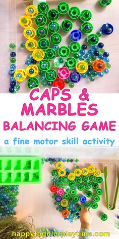 Caps & Marbles Balancing Game – HAPPY TODDLER PLAYTIME