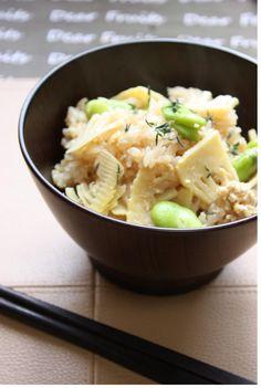 筍ごはん | 美肌レシピ(A bamboo-shoot)