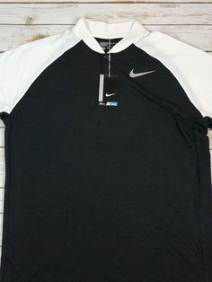 79176a9a18 Nike Golf Dri-Fit Modern Fit Shirt Black White Size XL Men s  80 NWT