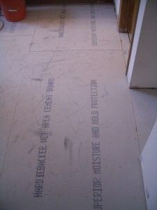 How to lay backerboard for tile floors.