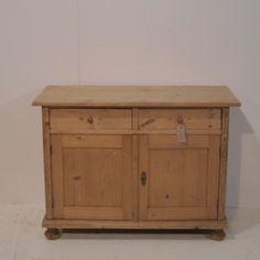Antique Pine Dresser Base Cupboard (R1004A)