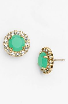kate spade new york 'secret garden' mixed stone stud earrings available at #Nordstrom