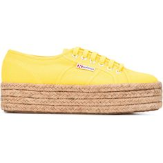 Superga braided sole sneakers ($120) via Polyvore featuring shoes, sneakers, woven shoes, superga, braided shoes, superga trainers and superga sneakers