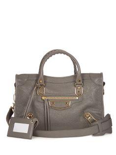Metallic-Edge City small leather cross-body bag   Balenciaga…