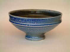 Ceramics by Peter Starkey at Studiopottery.co.uk - 2006 - Blue salt glaze footed bowl