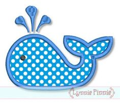 Embroidery Designs - Simple Whale Applique 4x4 5x7 6x10 - Welcome to Lynnie Pinnie.com! Instant download and free applique machine embroidery designs in PES, HUS, JEF, DST, EXP, VIP, XXX AND ART formats.