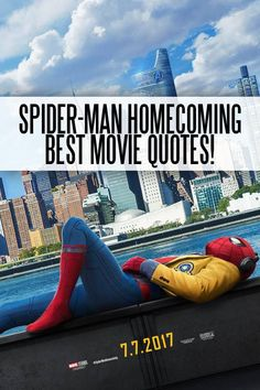 Looking for a list of quotes for Spider-Man Homecoming. These Spider-Man Homecoming Quotes will make you want to see Spider-Man Homecoming today! Superman Quotes, Avengers Quotes, Marvel Quotes, Spider Man Quotes, Iron Man Quotes, Popular Movie Quotes, Favorite Movie Quotes, Spiderman Homecoming Quotes, Men Love Quotes