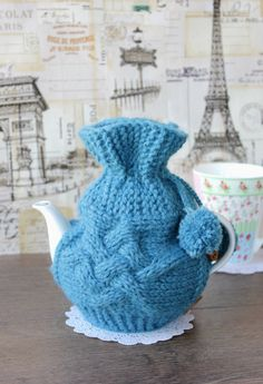 Hand Knit Tea Pot Cozy Warmer, Turquoise Cosy Cozy, Cover, Choose color, Available 0.5 litre teapot by LovekaKnitting on Etsy https://www.etsy.com/listing/222379185/hand-knit-tea-pot-cozy-warmer-turquoise