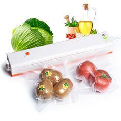 Vacuum Sealer Vakum Packing Mesin 220 V Rumah Tangga Sous Vide Makanan Sealer Dengan 10 Pcs Penyegelan Mesin Paket Pengiriman Gratis