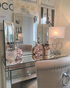 Home Decor Styles .Home Decor Styles Home Decor Styles, Cheap Home Decor, Home Decor Accessories, Sala Glam, Room Ideas Bedroom, Bedroom Decor, Target Home Decor, Mirrored Furniture, Mirrored Vanity