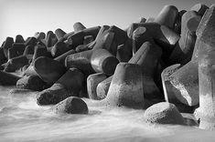 Tetrapods help prevent coastal erosion in Japan
