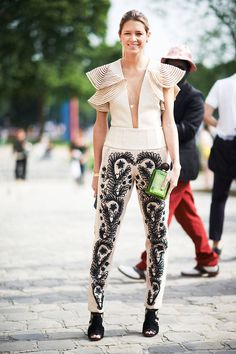 Fall 2013 Couture Fashion Week Street Style - Paris Street Style - ELLE