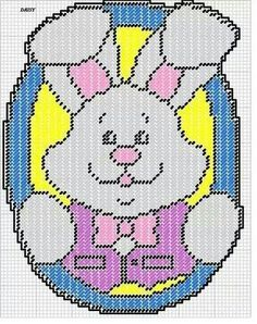 EASTER BUNNY by DAISY - WALL HANGING