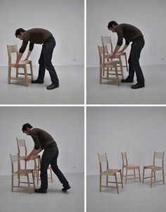 3 in 1 chair, space saving design