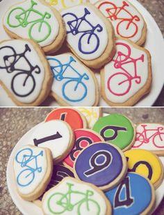 Idea for Tour de France party, bike cookies