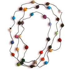 Crochet Multicolored Bead Necklace