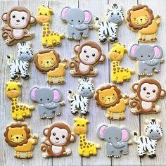 Safari Birthday Cakes, 2nd Birthday Party For Boys, Jungle Theme Birthday, Safari Party, Birthday Cookies, 1st Boy Birthday, Safari Cakes, Jungle Safari Cake, Jungle Theme Cakes