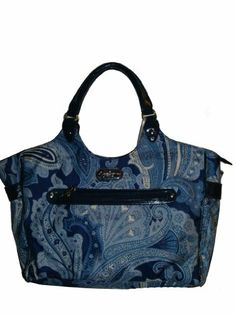 #saucy Jessica Simpson Luggage Spoonful of Sugar Laptop Tote, Blue Paisley