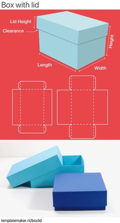 Box with lid ✂︎ templatemaker.nl Box with lid ✂︎ templatemaker. Diy Gift Box Template, Paper Box Template, Box Templates, Box Template Printable, Origami Templates, Origami Box With Lid, Origami Box Tutorial, Origami Gift Box, Gift Boxes With Lids