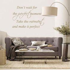 Mooie quote, mooie muursticker te bestellen in onze webwinkel.