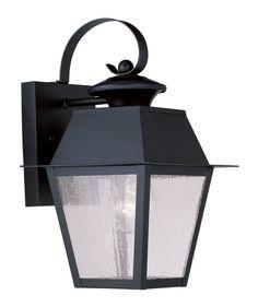 Livex 2162-04 Mansfield 1 Light 13 inch Black Outdoor Wall Lantern