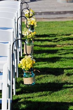 hooks, outdoor country wedding decor, ceremoni flower, blue jars wedding, ceremony decorations, ceremony flowers, mason jars, decor idea, outdoor weddings