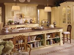 English country style kitchen island designs