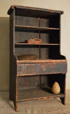 primitive homes gallery Primitive Cabinets, Primitive Furniture, Country Furniture, Farmhouse Furniture, Antique Furniture, Farmhouse Decor, Antique Kitchen Cabinets, Farmhouse Garden, Rustic Cabinets