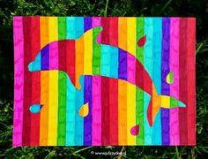 Regenboogdieren - Met stiften. Handig om een sjabloon te gebruiken