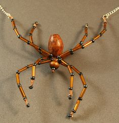 Beaded spider necklaces. - JEWELRY AND TRINKETS