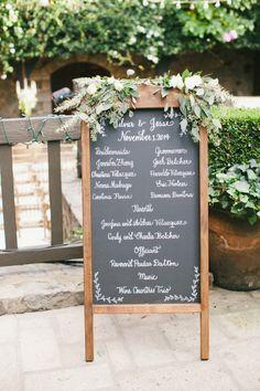 Pretty signage: http://www.stylemepretty.com/little-black-book-blog/2015/03/31/elegant-saint-helena-vineyard-wedding/ | Photography: Onelove - http://www.onelove-photo.com/