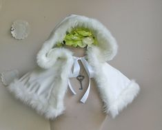 Snow Maiden fur lined velvet hooded capelet by lorigami on Etsy Snow Maiden, Old And Teen, Black Cape, Wool Cape, Velvet Material, Capelet, Snow Queen, White Fur, Handmade Clothes