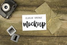This exclusive freebie is a vintage photo mockup with a background of natural wood and camera to attract the attention of your customers. This mockup is perfect Themes Photo, Vintage Theme, Wood Background, Natural Wood, Mockup, Vintage Photos, Your Design, Lettering, Creative